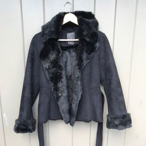 Black suede Guess Jacket size S
